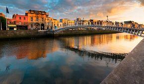 Západ slunce nad Dublinem