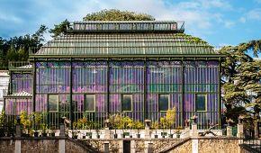 Skleníky botanické zahrady v Jardin des Plantes