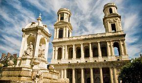 Slavný kostel Svatého Sulpicia v Latinské čtvrti