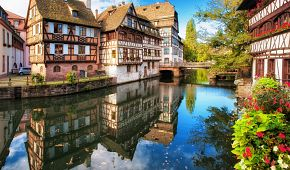 Klasické hrázděné domy ve Štrasburku