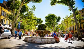 Poklidné městečko Aix-en-Provence