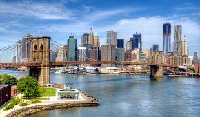 Jeden ze symbolů New Yorku, Brooklynský most