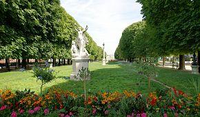 Rozkvetlé Lucemburské zahrady