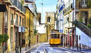 Kouzelné lisabonské uličky a tradiční žlutá tramvaj