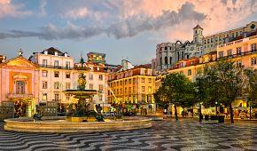 Náměstí Rossio v Lisabonu