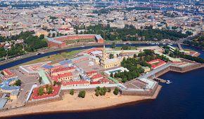 Petropavlovská pevnost v Petrohradě