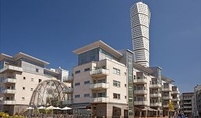 Nejvyšší skandinávská budova Turning Torso v Malmö