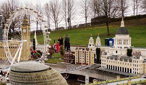 Londýnské oko a Big Ben v Legolandu