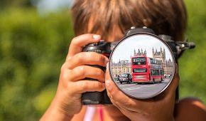 dívka v Londýně