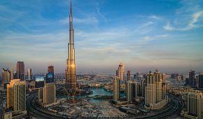 U mrakodrapu Burj Khalifa uvidíte Dubai Mall a večerní show fontány