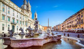 Berniniho Fontána čtyř řek na Piazza Navona