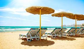 Lenošení na pláži v Torremolinos