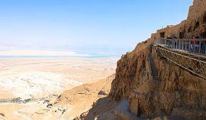 Pevnost Masada poblíž Mrtvého moře