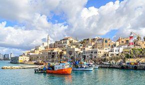 Starobylý přístav Jaffa v Tel Avivu.
