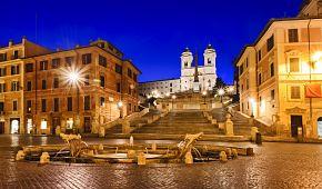 Španělské schody s Berniniho fontánou