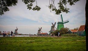 Větrné mlýny v Zaanse Schans