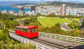 Jízda ikonickou červenou zubačkou ve Wellingtonu