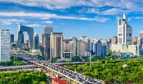 Panoramatický pohled na Peking
