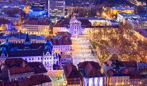 Vánoční atmosféra v Lublani