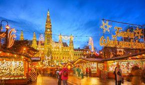 Tradiční vánoční trhy ve Vídni