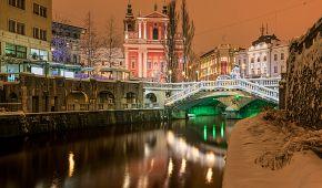 Kouzelná atmosféra vánoční Lublaně