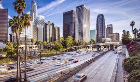 Dopravní šrumec v Los Angeles