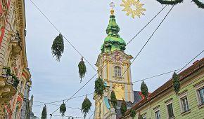 Adventní výzdoba v Grazu