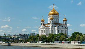 Nepřehlédnutelný chrám Krista Spasitele u řeky Moskvy