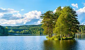 Krásné jezero Sognsvann
