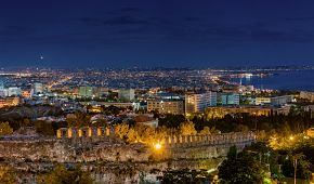 Magický noční pohled na Soluň