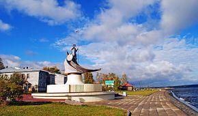 Petrozavodsk na břehu Oněžského jezera