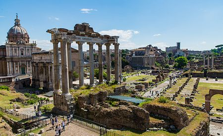 Věčné nestárnoucí Forum Romanum