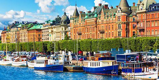 Švédsko letadlem a autobusem