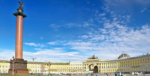 Petrohrad letecky z Prahy