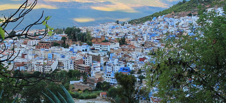 Pohled na starý Chefchaouen
