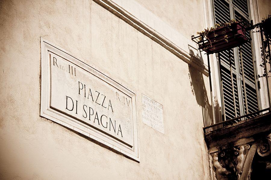 Řím značení ulic