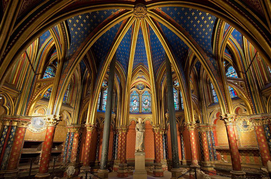 Paříž - kaple Sainte Chapelle
