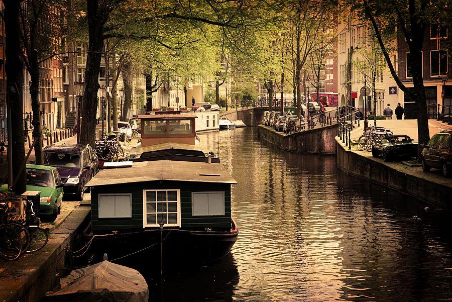 Nizozemí - Amsterdamské kanály