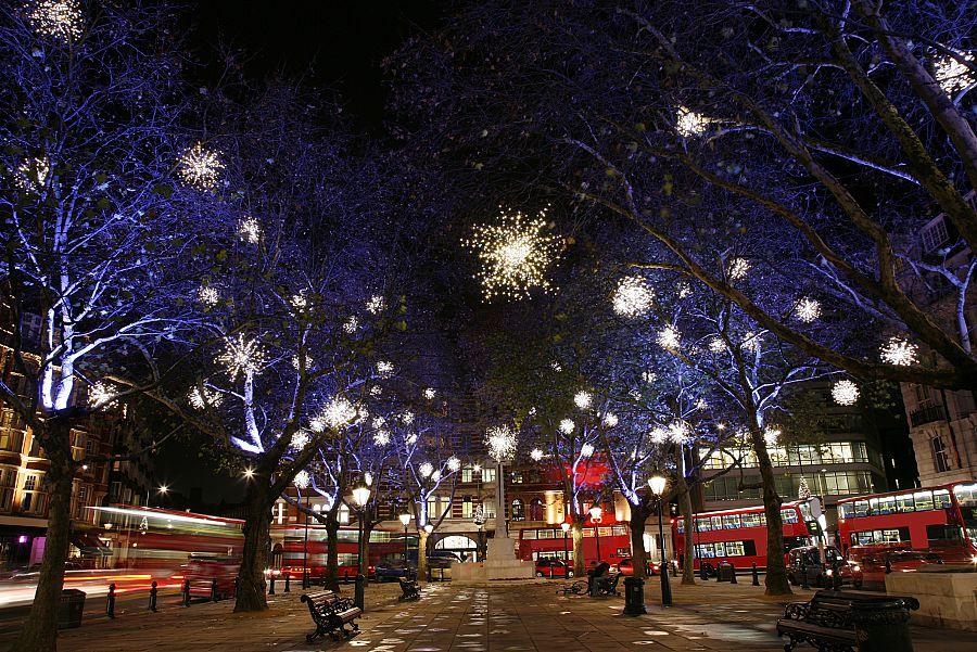 Londýn - vánoční osvětlení
