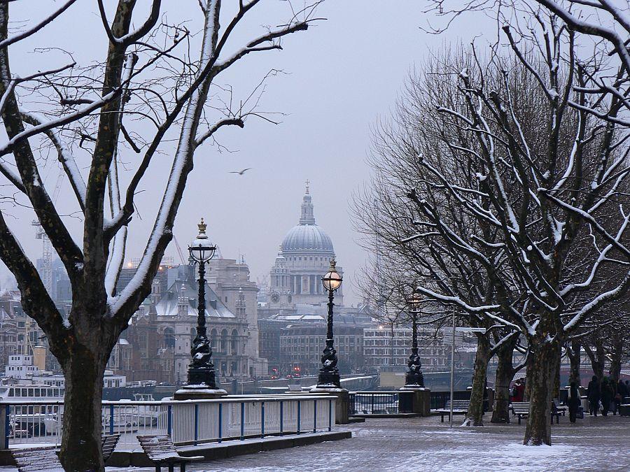 Londýn - město v zimě