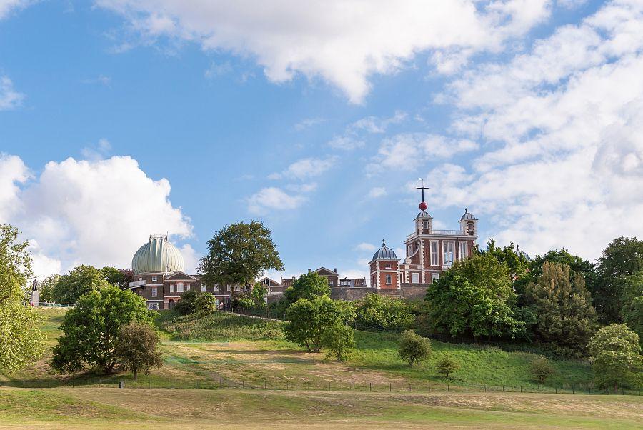 Londýn pohled na královskou observatoř Greenwich