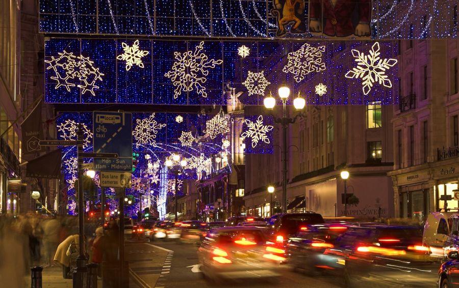 Londýnská vánoční výzdoba