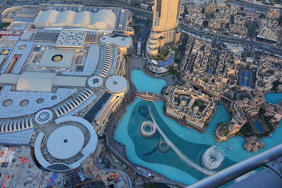 Dubai Mall a fontána