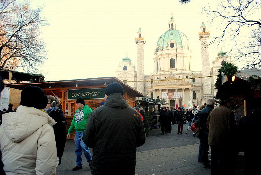 Trhy před Karlskirche