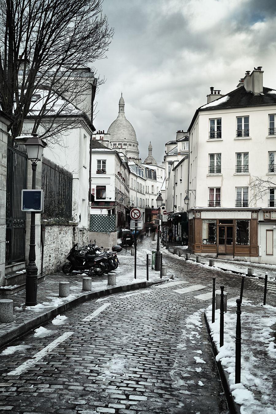 Montmartre v zimě