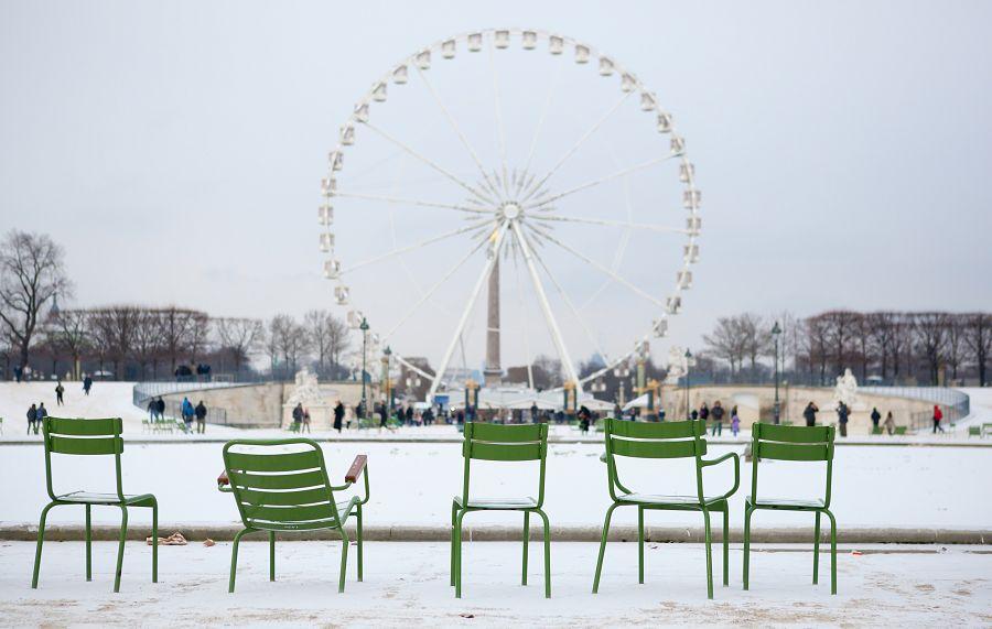 Tuilerijské zahrady v zimě