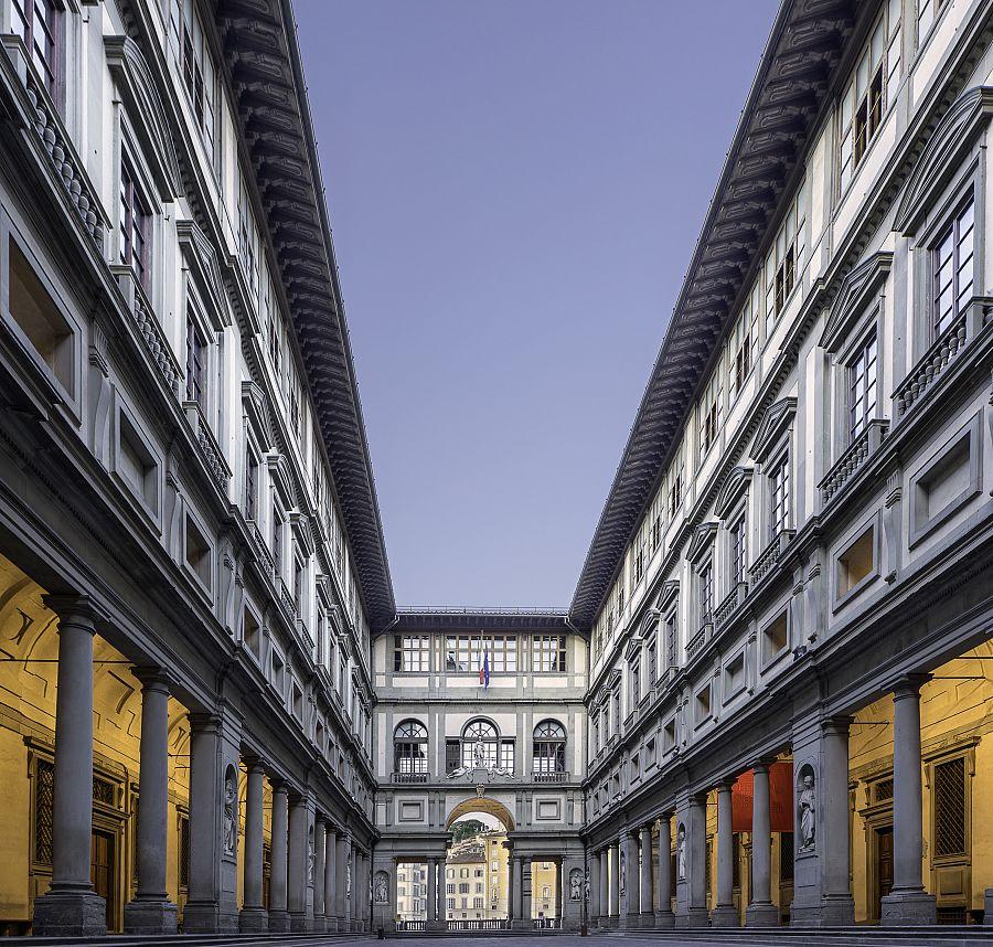 Florencie - galerie Uffizi