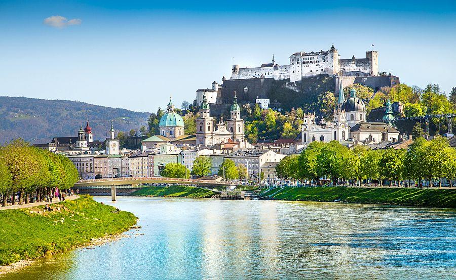 Pevnost Hohensalzburg v Salzburgu