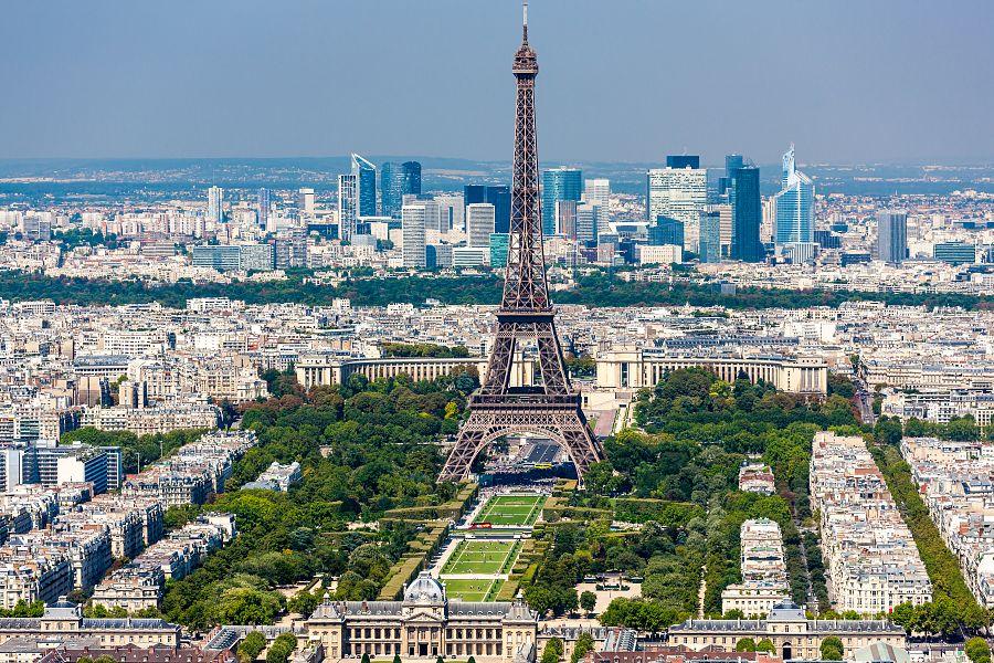 Paříž - Eiffelova věž výhled