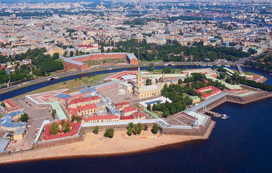 Petropavlovská pevnost Petrohrad